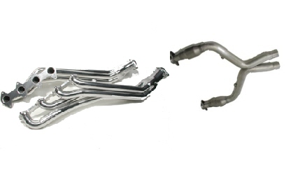 2005-09 Mustang GT BBK Long Tube Headers & Off Rd X-Pipe