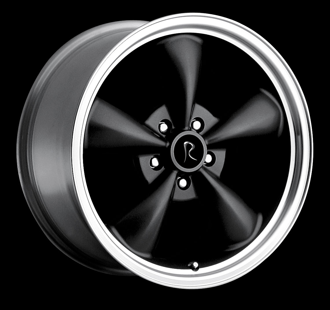 "BULLITT - BLACK - 5 Lug 05-17 (sizes available 17"", 18"", 20"" & Staggered)"