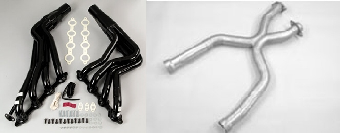 "2005-2010 Mustang GT Pacesetter Long Tube Headers & H Pipe (1-3/4"" Primary)"