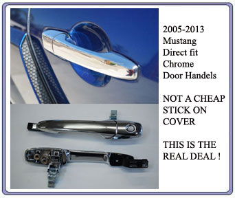 2005-2011 Mustang Direct Replacement Chrome Door Handles