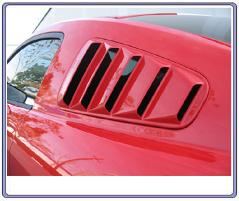 05-09 Mustang SALE Upper Louvers ABS PLASTIC (PAIR) (OPEN LOUVER 5 SLOT)