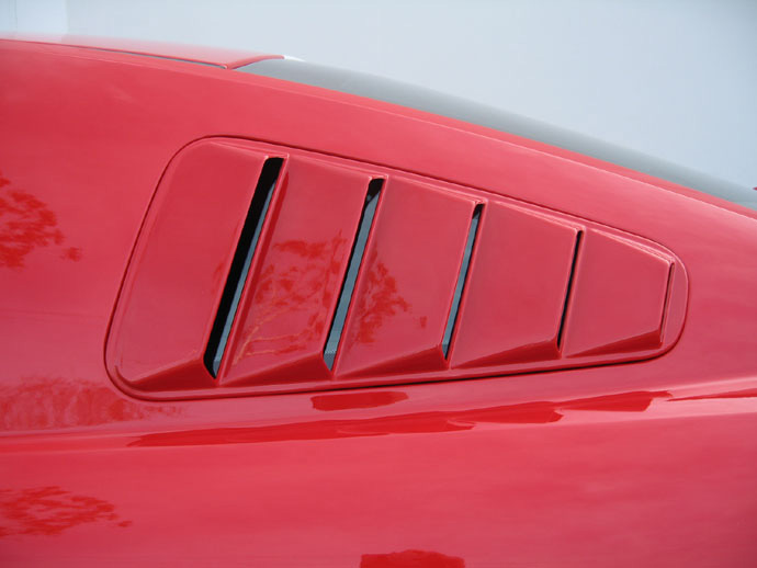05-09 Mustang DG Upper Louvers (PAINT OPTIONS)