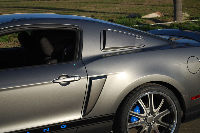 2010-13 Mustang V6 & GT - DG Vector Upper Scoops (PAINT OPTIONS)