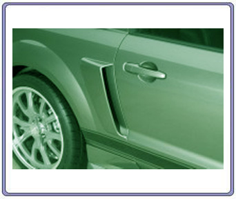 05-09 Mustang Eleanor Lower Door Scoops - Urethane