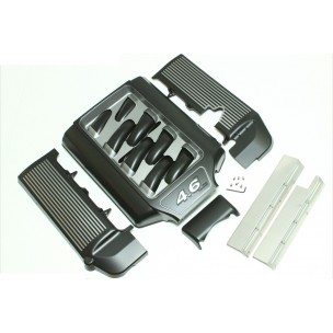 "2005-2010 4.6L 3V Open Runner Engine Dress Up Kit, ""Black & Gunmetal"""