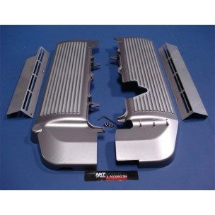 2005-2010 Finned Fuel Rail Covers, Gunmetal Grey w/ Silver Fins