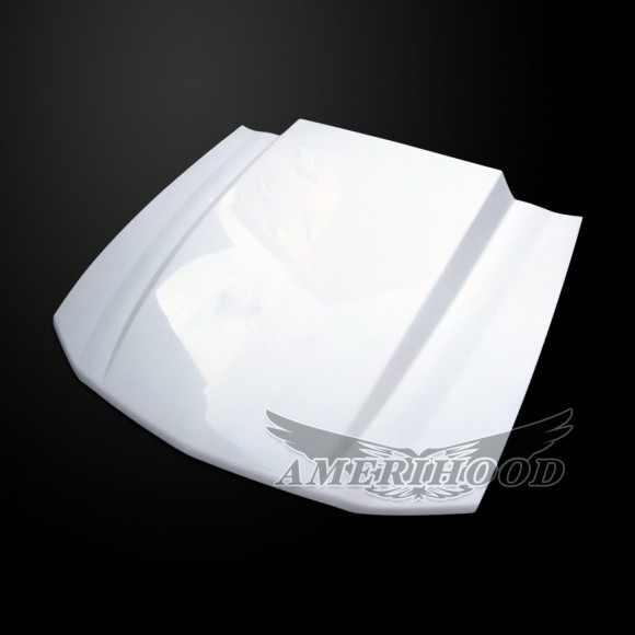 05-09 Mustang Cowl Style Functional Heat Extraction Ram Air Hood For Ford Mustang Shelby GT500 by Amerihood (Fiberglass)