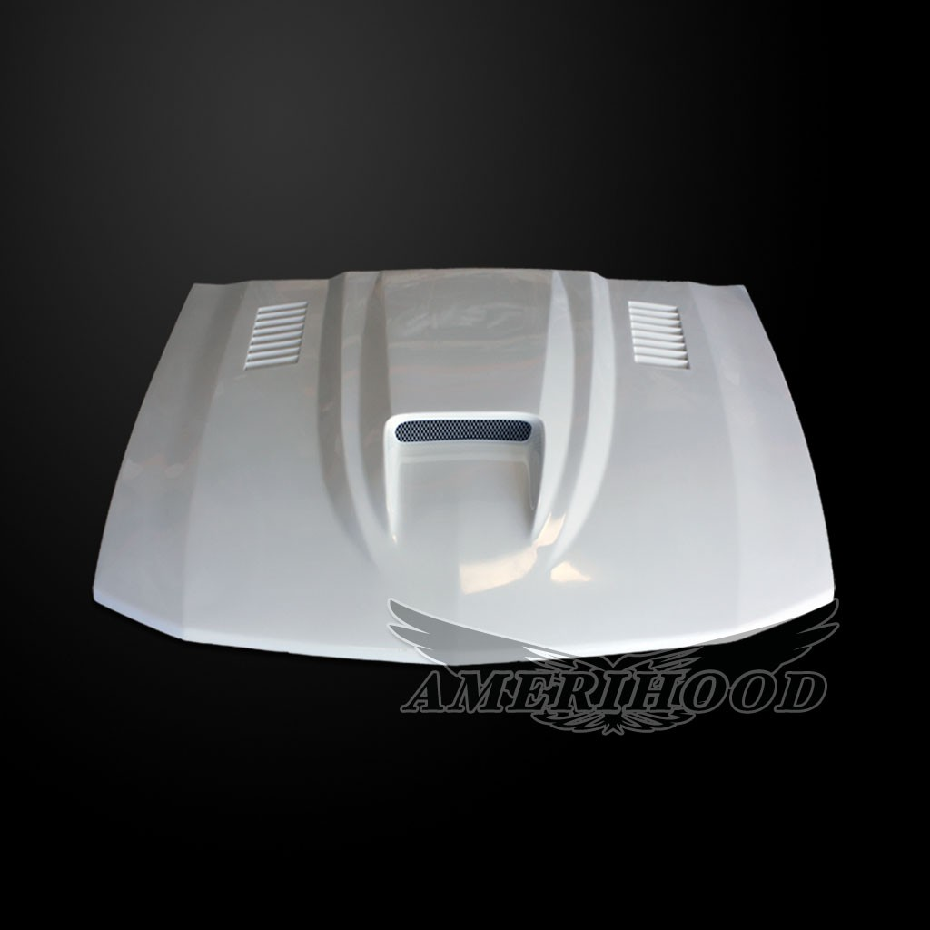 05-09 Mustang Type-SMS Style Functional Heat Extraction Ram Air Hood by Amerihood (Fiberglass)