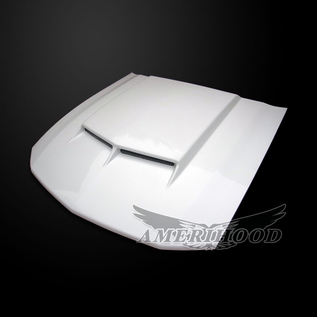 05-09 Mustang Type-C Style Functional Ram Air Hood by Amerihood (Fiberglass)