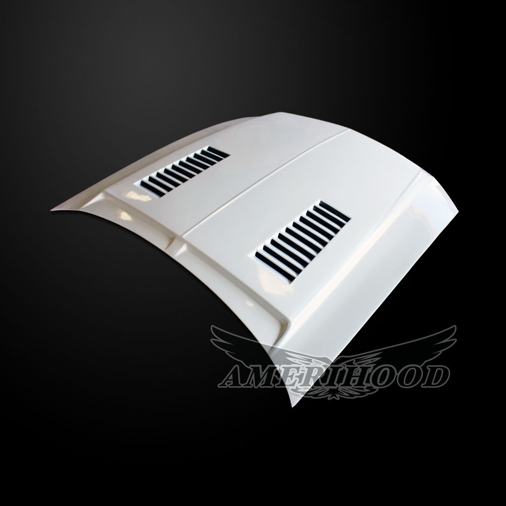 05-09 Mustang Type-E Style Functional Heat Extraction Ram Air Hood by Amerihood (Fiberglass)