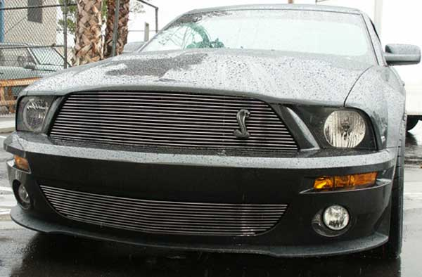 2007-2009 Mustang GT500 Shelby Upper & Lower COMBO Billet Grille CHROME or BLACK