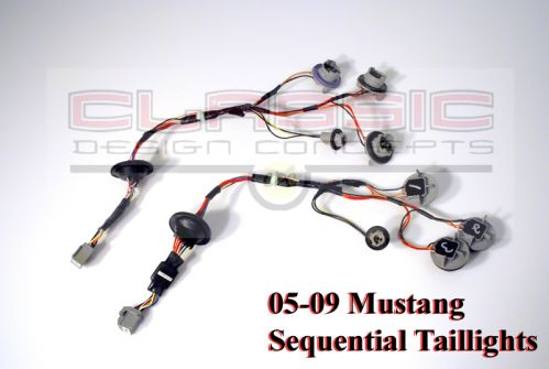 05-09 Mustang Sequential Tail Light Conversion wire kit 1-2-3 Blink by CDC
