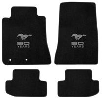 2015 Ford Mustang Lloyd Floor Mats - 50th Anniversary Emblem - Black