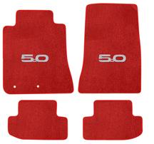 2015 Ford Mustang Lloyd Floor Mats - 2015 5.0 Emblem - RED