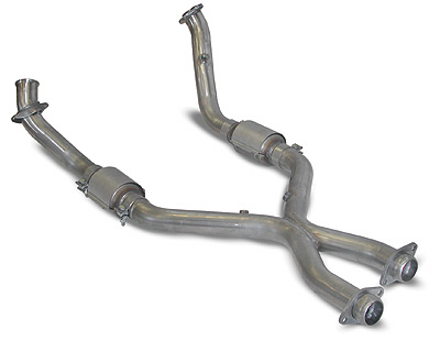 2005-09 Mustang GT SLP PowerFlo-X Crossover Pipe Full Assembly w/Cats
