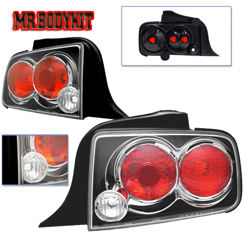 05-09 Mustang Taillights Gen 1 - Euro Black (Pair)