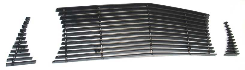05-09 Mustang GT - 3PC Upper Billet Grille - No Cut out for Pony (801114) CHROME POLISH