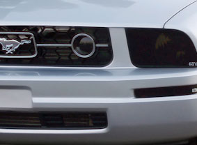05-09 Mustang V6 Fog Light Covers - GTS SMOKED (V6 Pony Package only) - (Pair)