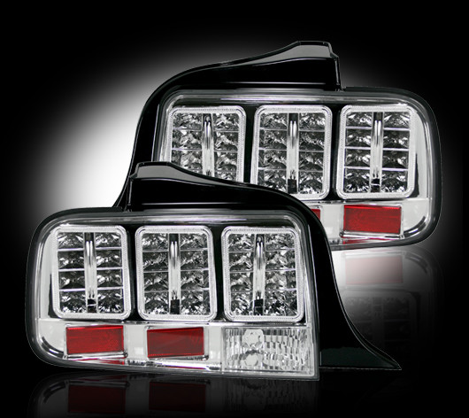 05-09 Mustang Taillights GEN 6 - LED CHROME (pair)