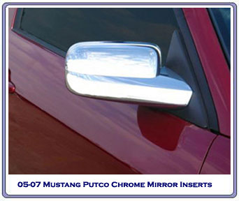 2005-2009 Chrome Full Mirror Covers - Pair