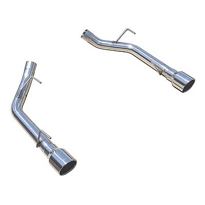 "2005-2010 Mustang GT 4.6L 304 Polished Axle-Back Muffler-Delete System w/ 4"" Polished Tips - By PYPES"