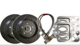 2005-2011 Mustang GT Steeda Rear Brake Upgrade Kit