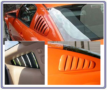 05-09 Mustang Street Scene Upper Louvers (PAINT OPTIONS)