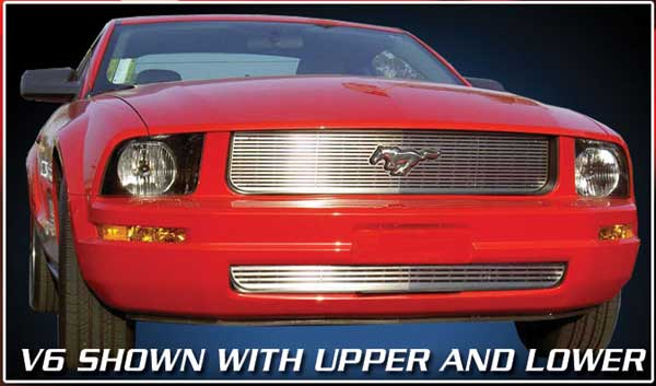 05-09 Mustang V6 - Upper & Lower Grille CNC Laser cut Stainless Steel COMBO