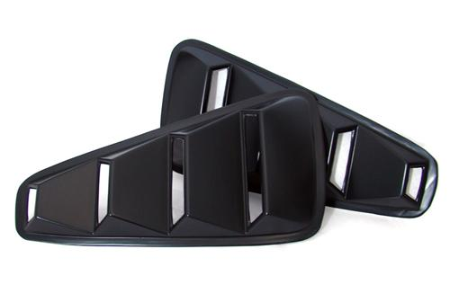 2005-2009 Mustang Quarter Window Louvers V2 - ABS Plastic