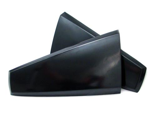 2005-2009 Mustang Quarter Window Scoops X1 - ABS Plastic