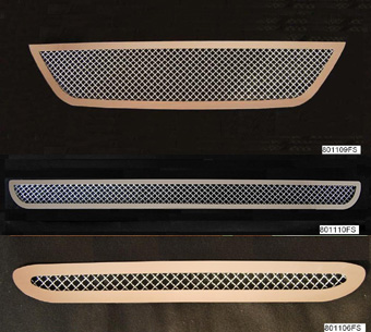 99-04 Mustang Upper/Lower & Hood Scoop MESH GRILLE With Stanless Steel Frame COMBO