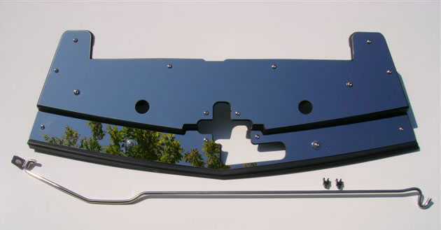 2005-2009 Mustang V6 & GT Radiator Stainless Cover w/hood prop rod - Mirrored Polish or Brushed Finished