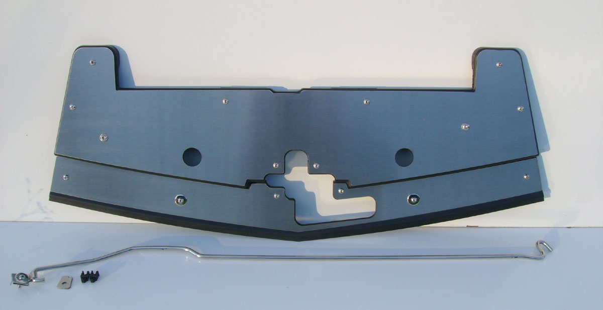 2005-2009 Mustang V6 & GT Radiator Stainless Cover w/NO hood prop rod - Mirrored Polish or Brushed Finished