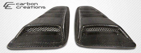 2010-2014 Ford Mustang Carbon Creations Hot Wheels Window Scoop - 2 Piece - CARBON FIBER