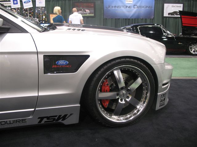 2010-2014 Mustang RK Sports Vented Replacement Full Fenders CARBON FIBER INLAY & Mesh Grille (GT & V6)