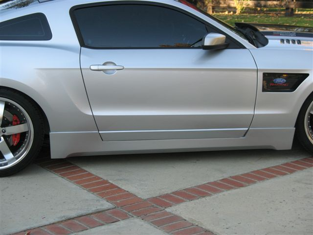 2010-2012 Mustang RK Sports Side Skirts with Door Panels (4PC)- Pair (GT & V6)