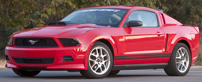 2005-2013 Mustang Xenon Quarter Window Upper Scoops (PAINT OPTIONS)