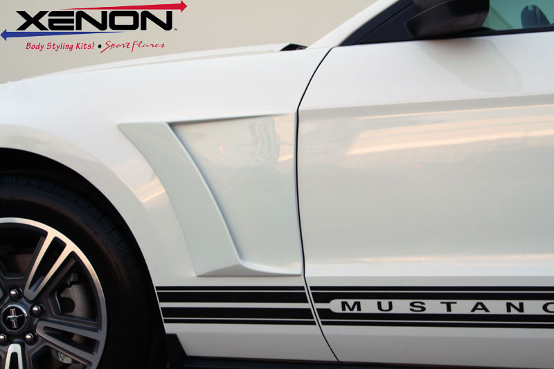 2010-2014 Mustang V6 & GT Xenon Front Fender Scoops (Pair)