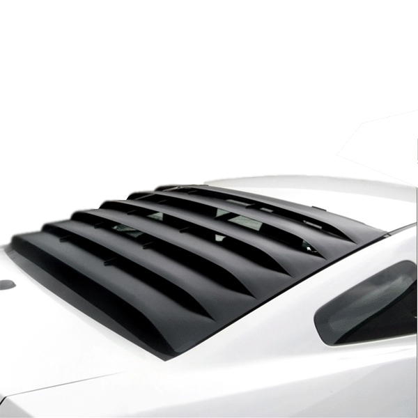 2005-2014 Mustang MRT Rear Window Louver Kit - Aluminum BLACK FINISH