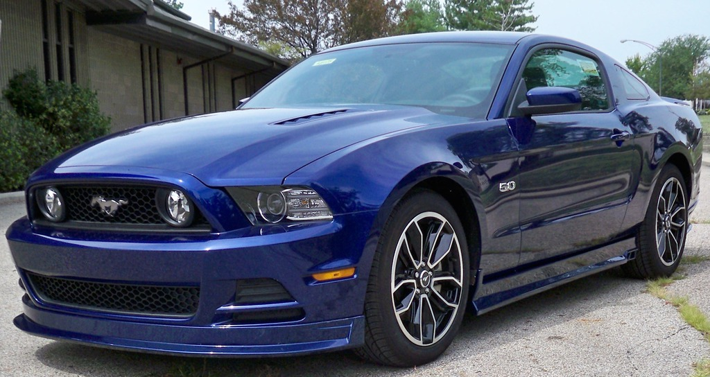 2013-14 Mustang GT/V6 Mustang Front Bumper Add on - Bodykit AERO-FLEX ABS Plastic (PAINT OPTIONS)