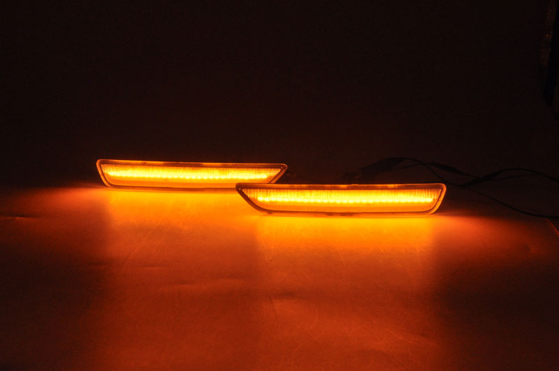2010-2014 Mustang LED Front Bumper Side Marker Light - SMOKED LENS (Pair)