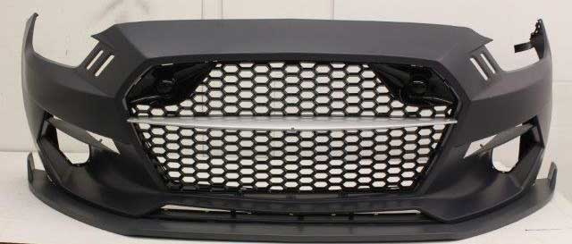 15-17 Mustang TMC Front Bumper with Grilles and Lights - POLYURETHANE
