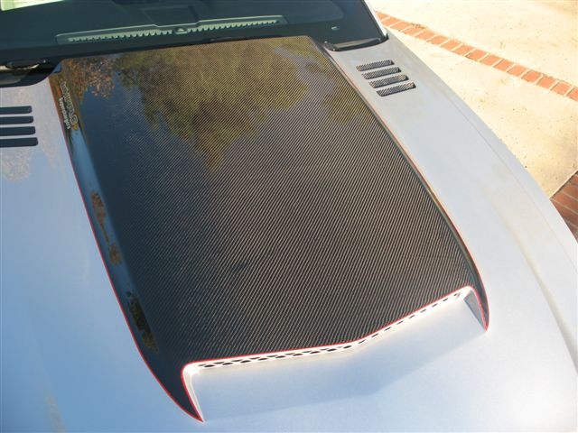 2010-2012 Mustang RK Sports Ram Air Hood - Fiberglass with Carbon Fiber Blister Scoop (GT & V6)