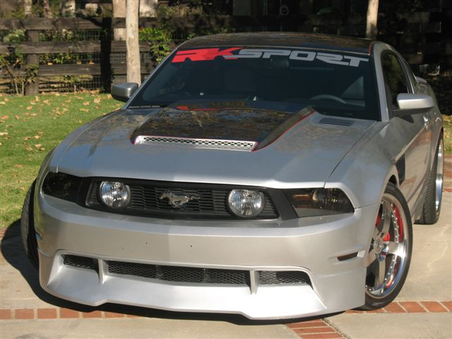 2010-2012 Mustang RK Sports Ground Effects Body Kit for V6 (Front V6 + Sides + Rear)