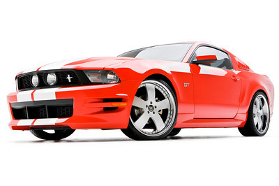 2010-2012 Mustang 3d Carbon Boy Racer - 6PC Kit Front + Rear + Sides + Spolier 3d500 & Quarter Louvers (Paint Options)
