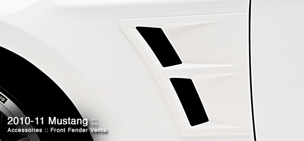 2010-2014 Mustang 3D Carbon Front Fender Vents w/Mesh Insert (Paint Options)