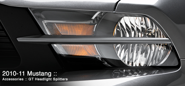 2010-2012 Mustang 3D Carbon Headlight Splitters for GT (Paint Options)