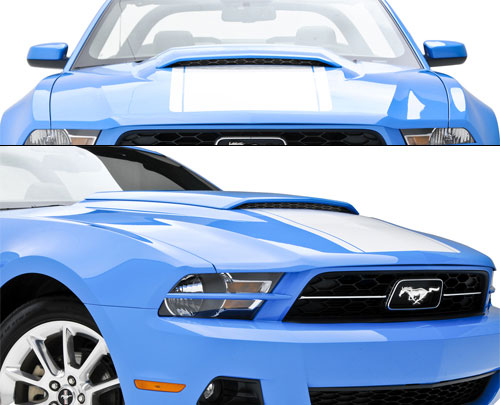 2010-2012 Mustang 3D Carbon Hood Scoop 691608 (Paint Options)