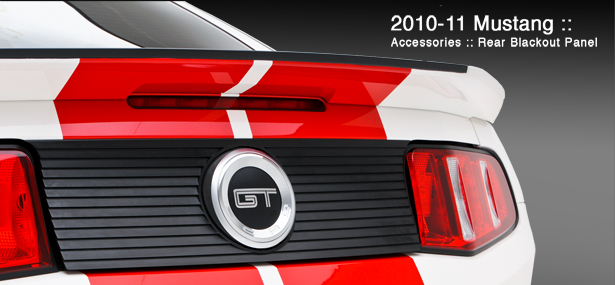 2010-2013 Mustang 3D Carbon Rear Blackout Panel (Paint Options)