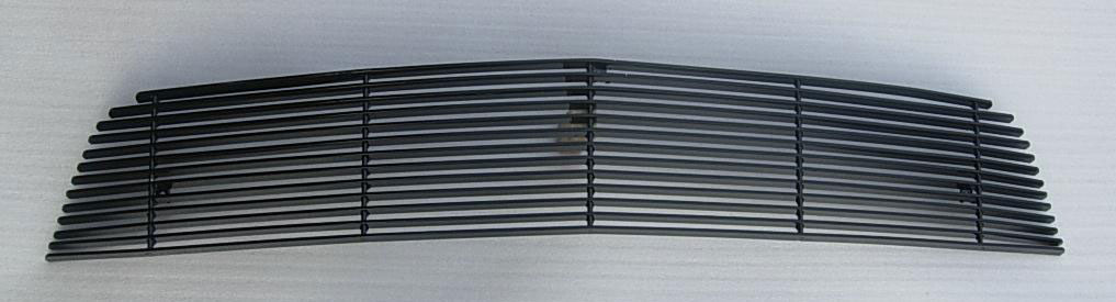2010-2012 Mustang V6 Upper Billet Grille - No Cut Out for Pony - BLACK
